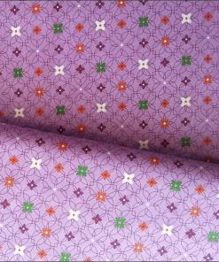 Purple floral dressmaking cotton fabric - buy online and instore at More Sewing