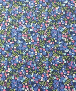dressmaking fabric | berry floral pima cotton lawn fabric | more sewing