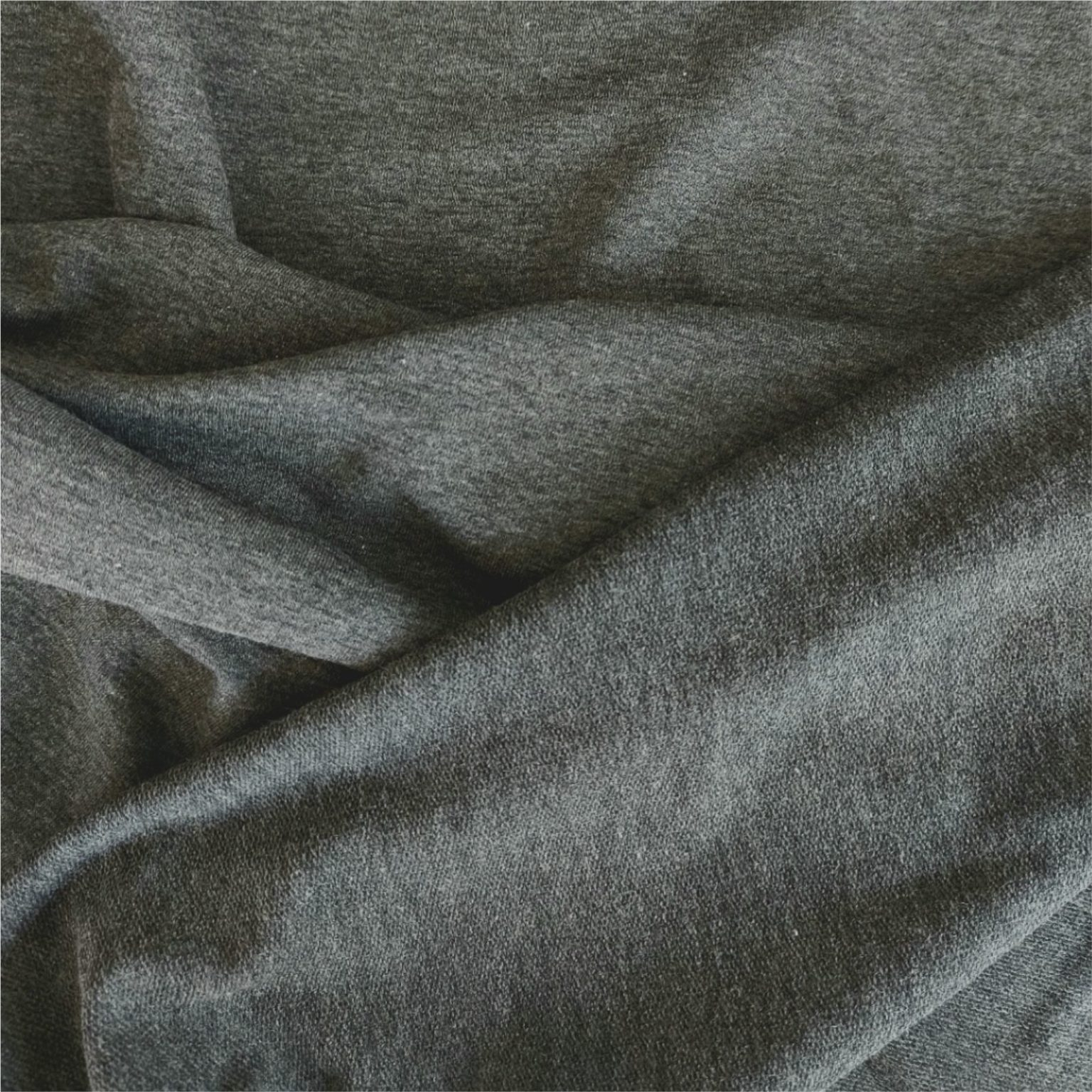Charcoal Grey Melange French Terry Jersey | More Sewing