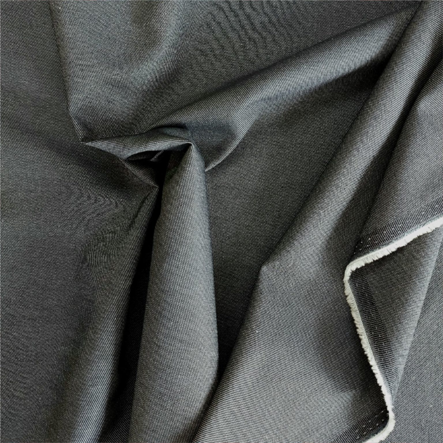 Grey Twill Weave 'Chambray' Type | More Sewing