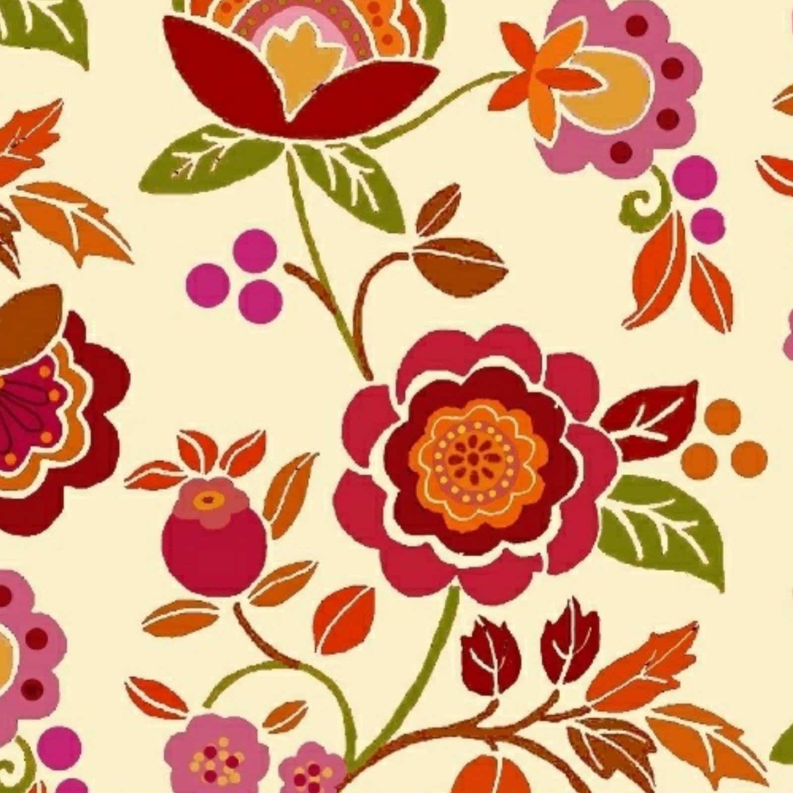 Bright Floral on Cream Cotton | More Sewing